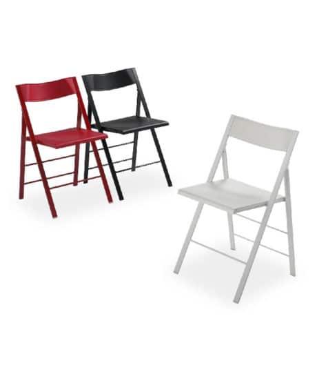 Klapstoel Bilbao3 rood wit zwart