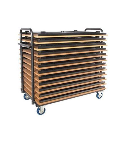 Transportkar voor rechthoekige klaptafels