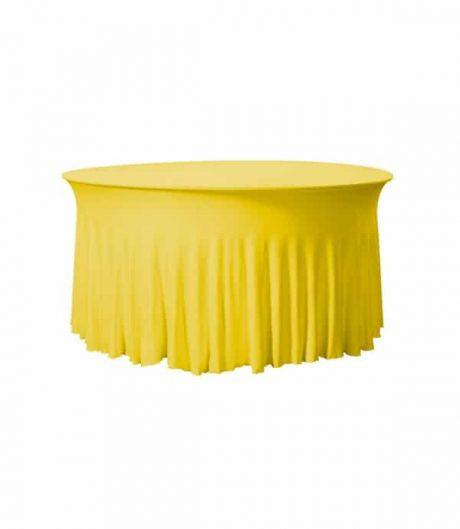 Tafelhoes Grandeur (rond) - Geel
