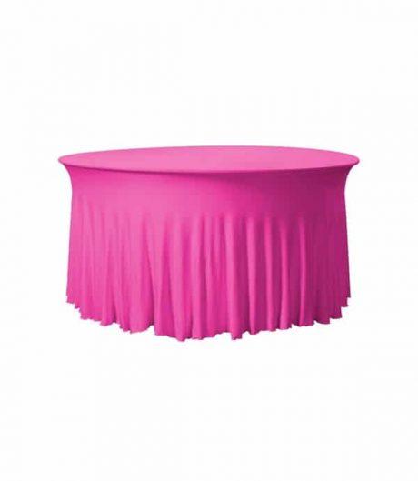 Tafelhoes Grandeur (rond) - Roze