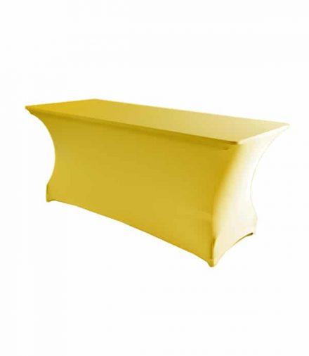 Tafelhoes Premium (rechthoek) - Geel