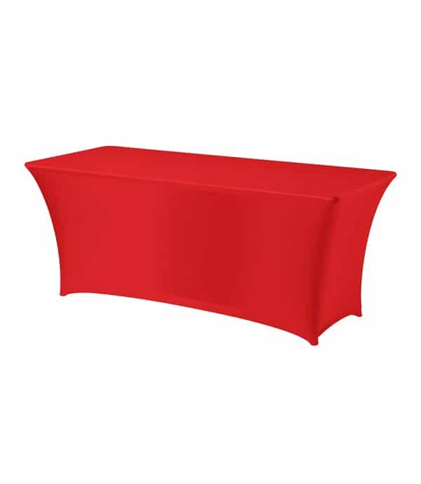 Tafelhoes Symposium (rechthoek) - Rood
