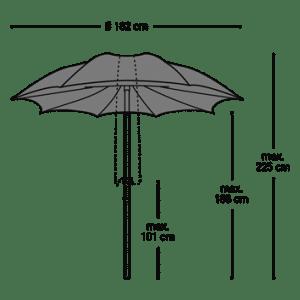 Parasol Chiuso - Afmetingen