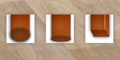 Type meubilair - Harde vloer, houten poten