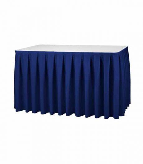 Tafelrok Boxpleat - Blauw