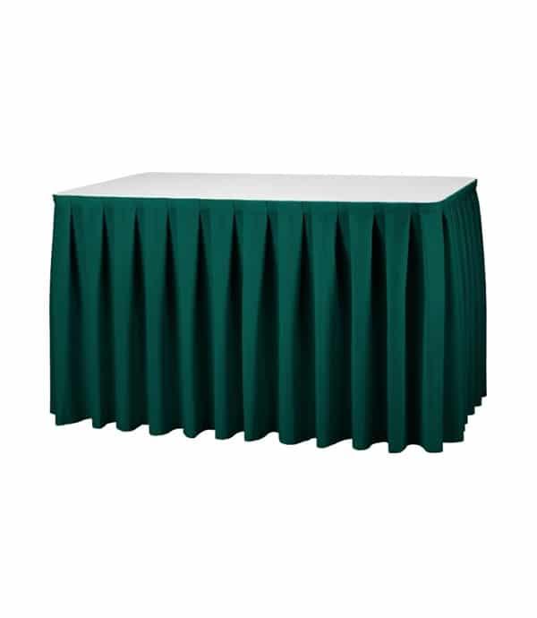 Tafelrok Boxpleat - Groen