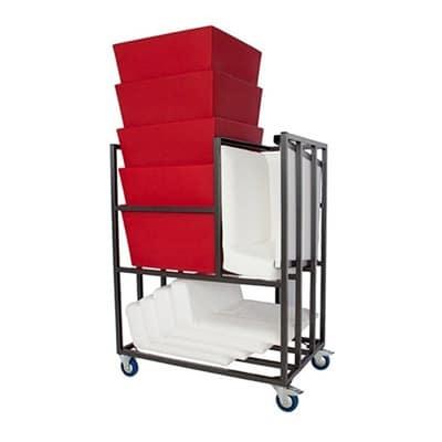 Transportkarren voor designmeubilair