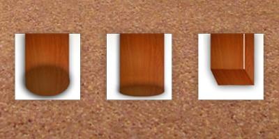 Type meubilair - Zachte vloer, houten poten