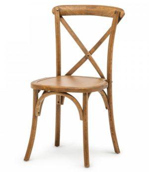 stapelstoel crossback oxford hout bruin