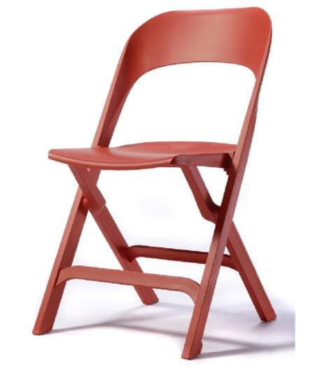 Klapstoel S115 rood