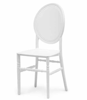 stapelstoel LouisXIV wit kunststof