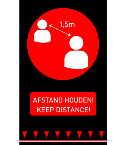 vloermat afstand houden keep distance