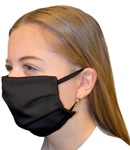 mondmasker katoen zwart
