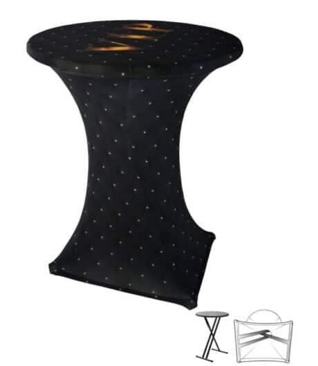 Designhoes samba statafelhoes VIP-studs-zwart