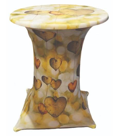 Designhoes samba statafelhoes wooden-hearts