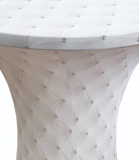 Samba wit zilveren studs 85 cm D2