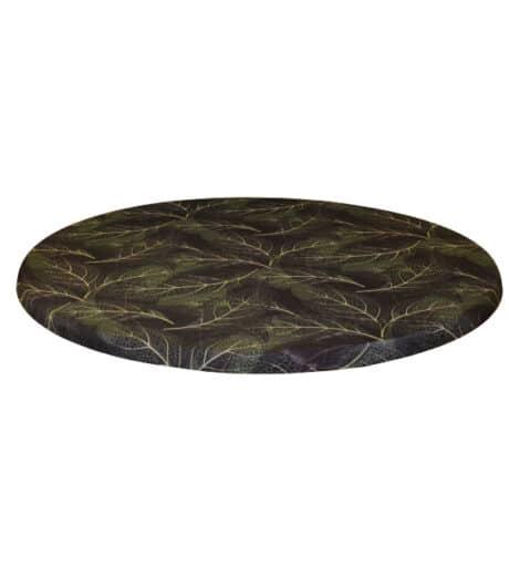 topcover print blad groen zwart leafs