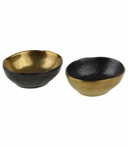 Ceylon kommetjes klein zwart-goud