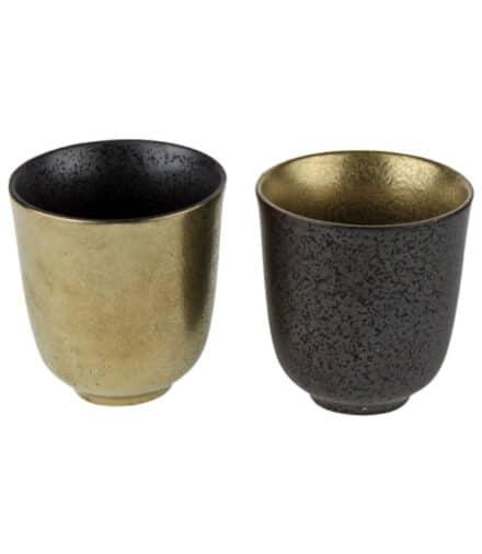 koffiemok zwart goud